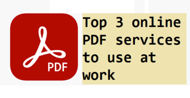 online PDF services to use at work