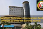 Petroleum Technology Development Fund (PTDF) In-Country Scholarship Awards