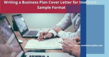 Writing a Business Plan Cover Letter for Investors - Sample Format