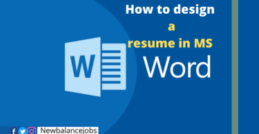 How to design a resume in MS Word