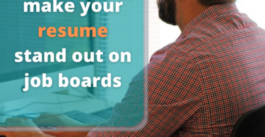 make your resume stand out on job boards
